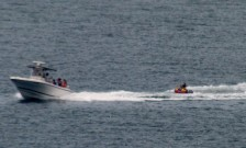 Tubing in the ocean on a calm day July 2013