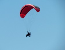 Parasailing with an air-boat fan motor