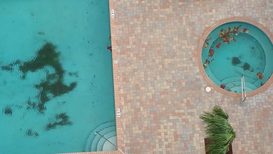 South pool debris